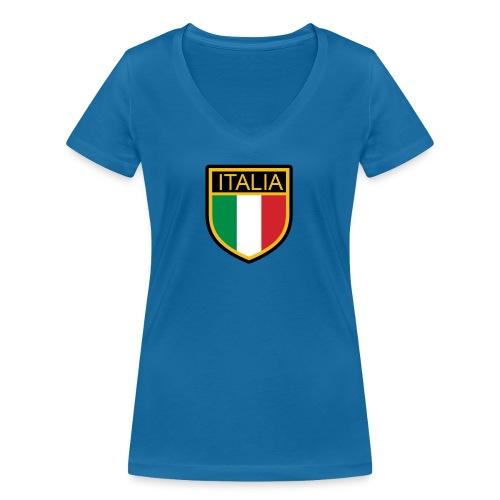 SCUDETTO ITALIA CALCIO - T-shirt ecologica da donna con scollo a V di Stanley & Stella