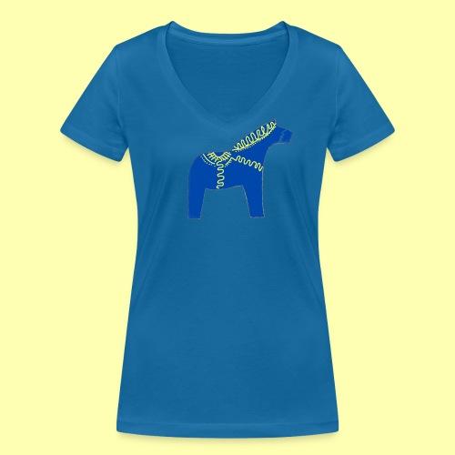 Dala by Pinni Art® blue - Frauen Bio-T-Shirt mit V-Ausschnitt von Stanley & Stella