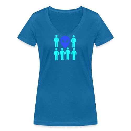 Extraterestre y Humano - Camiseta ecológica mujer con cuello de pico de Stanley & Stella