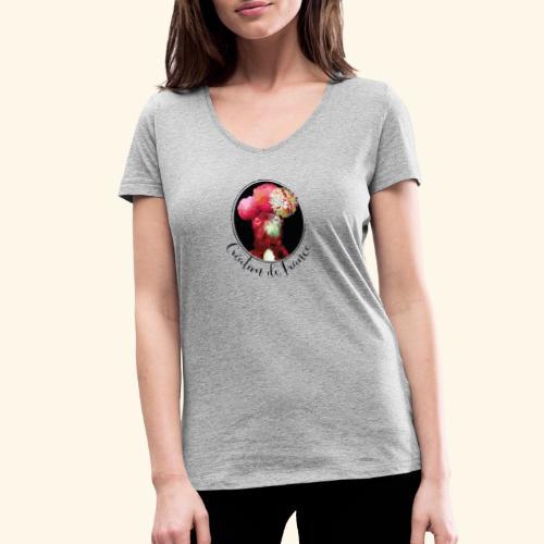 Création de France - T-shirt bio col V Stanley & Stella Femme