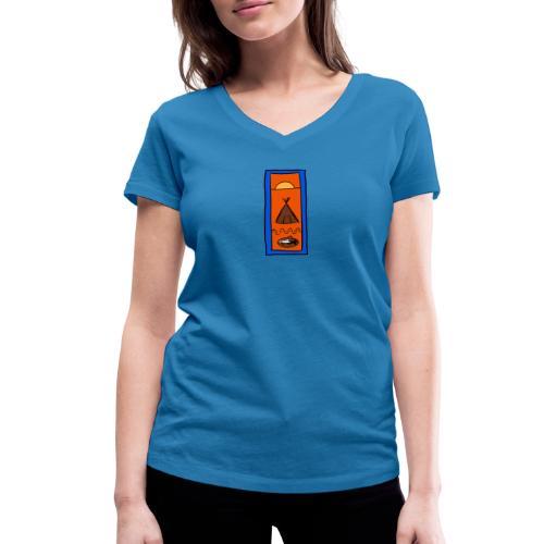Samisk motiv - Økologisk T-skjorte med V-hals for kvinner fra Stanley & Stella