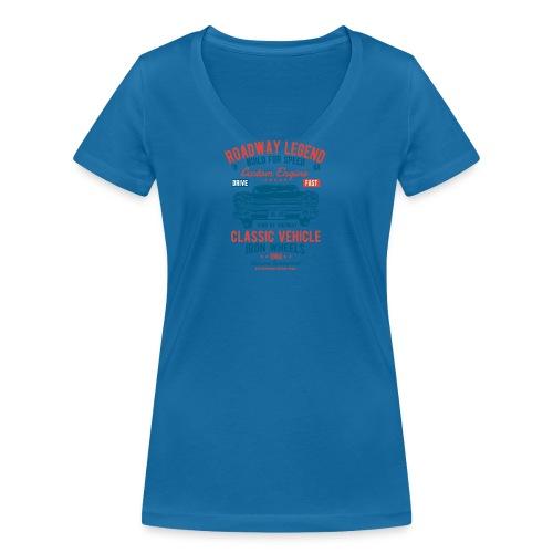 Roadway Legend - Vrouwen bio T-shirt met V-hals van Stanley & Stella