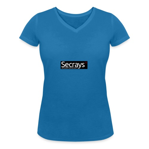 logo valkoinen teksti - Stanley & Stellan naisten v-aukkoinen luomu-T-paita
