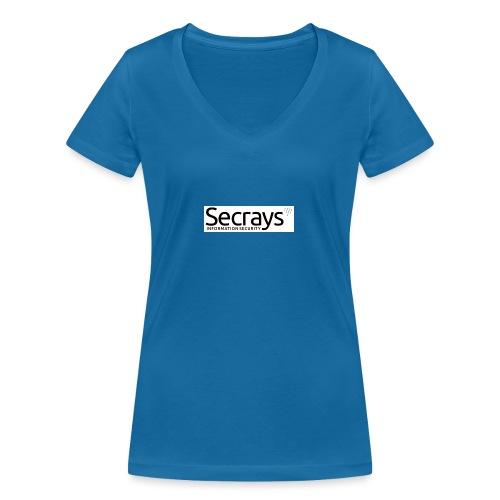 logo musta teksti - Stanley & Stellan naisten v-aukkoinen luomu-T-paita
