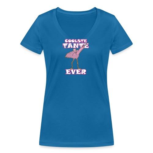Coolste tante flamingo ever - Frauen Bio-T-Shirt mit V-Ausschnitt von Stanley & Stella