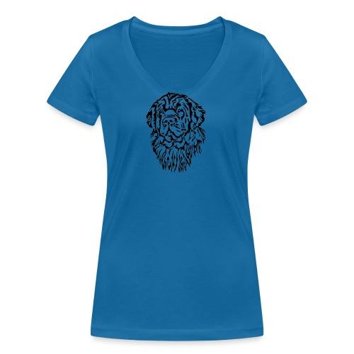 Neufundländer Kopf - Frauen Bio-T-Shirt mit V-Ausschnitt von Stanley & Stella
