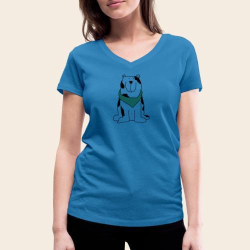 Gros chien mignon - T-shirt bio col V Stanley & Stella Femme