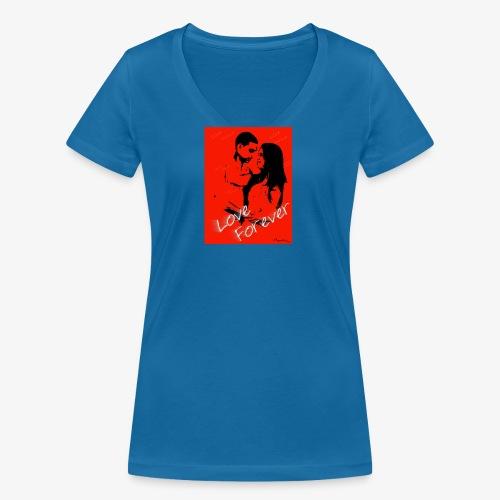 amor por siempre - Camiseta ecológica mujer con cuello de pico de Stanley & Stella