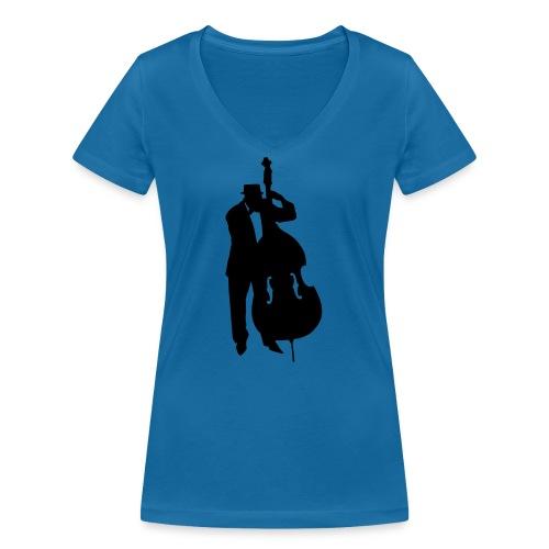 Kontrabass - Frauen Bio-T-Shirt mit V-Ausschnitt von Stanley & Stella