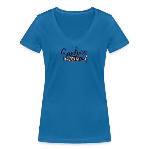 Sardine colorate all'amo - T-shirt ecologica da donna con scollo a V di Stanley & Stella