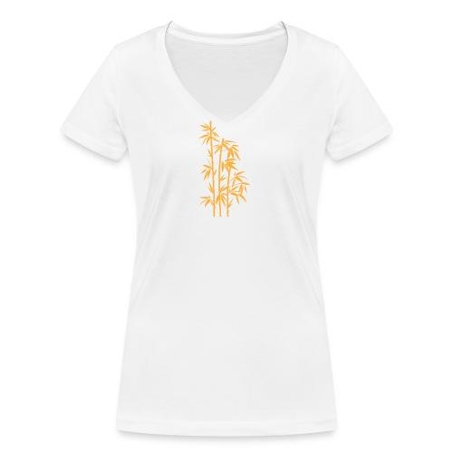 Giallo Dafne 01 - T-shirt ecologica da donna con scollo a V di Stanley & Stella