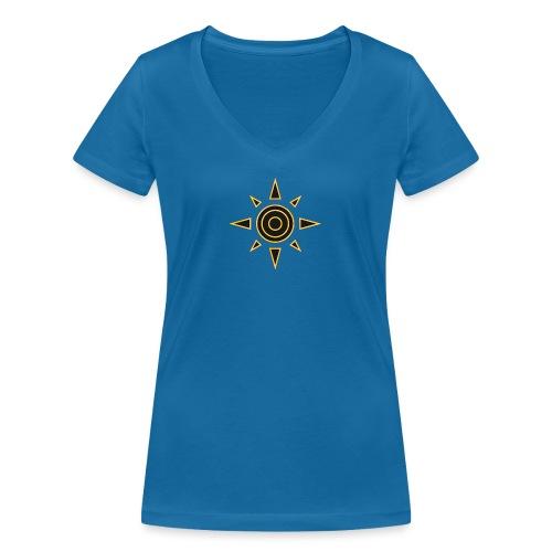digimon 01 - Camiseta ecológica mujer con cuello de pico de Stanley & Stella