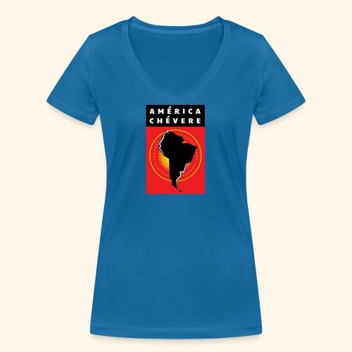 América Chévere Color - Frauen Bio-T-Shirt mit V-Ausschnitt von Stanley & Stella