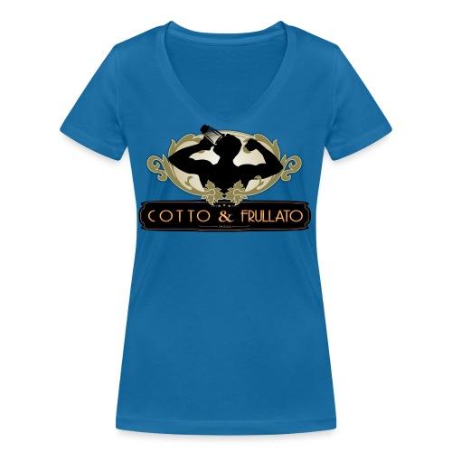Cotto Frullato - T-shirt ecologica da donna con scollo a V di Stanley & Stella