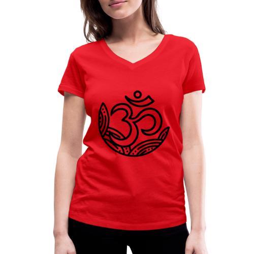 Om collection - T-shirt ecologica da donna con scollo a V di Stanley & Stella