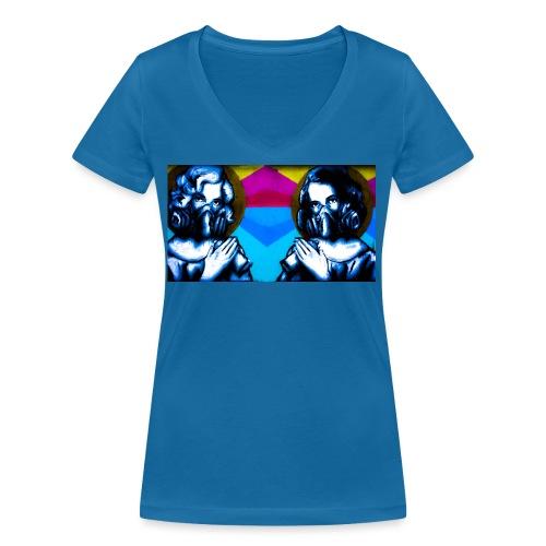 Monroe - Økologisk Stanley & Stella T-shirt med V-udskæring til damer