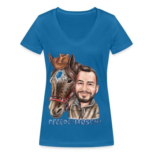 Pferde-Hoschi Kollektion hinten - Frauen Bio-T-Shirt mit V-Ausschnitt von Stanley & Stella