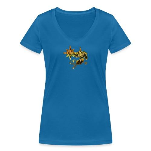 digimon - Camiseta ecológica mujer con cuello de pico de Stanley & Stella
