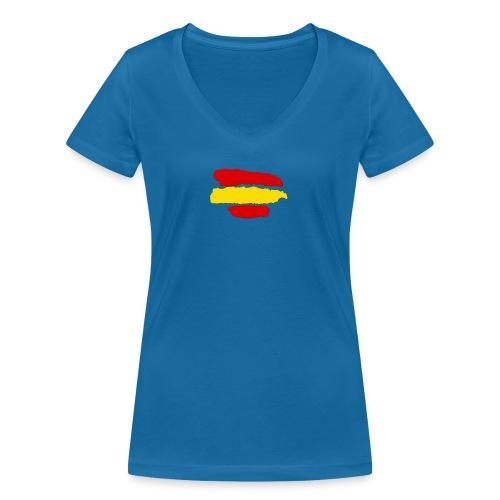 rayas de españa - Camiseta ecológica mujer con cuello de pico de Stanley & Stella