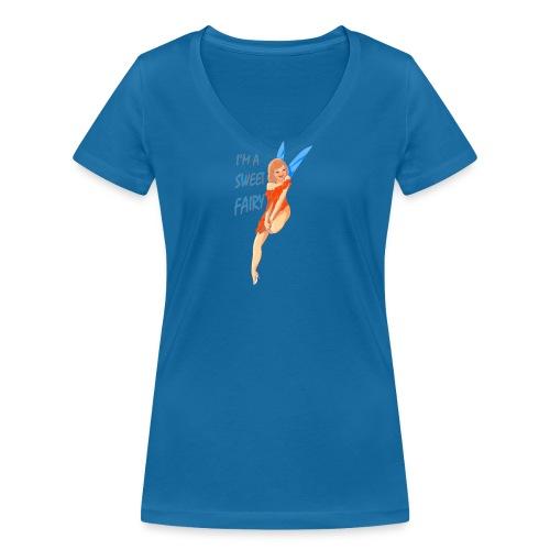 Sweet Fairy - T-shirt ecologica da donna con scollo a V di Stanley & Stella