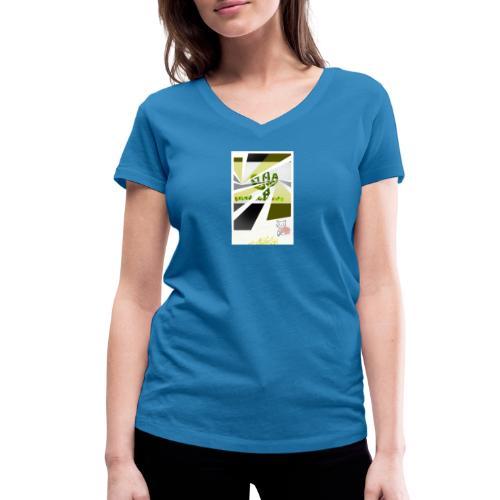 3D kaptus - Ekologisk T-shirt med V-ringning dam från Stanley & Stella