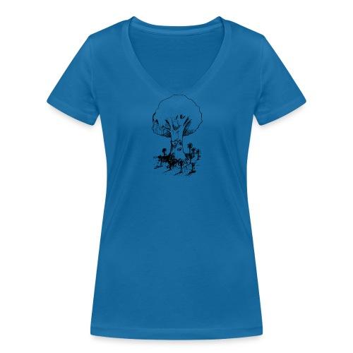 Sage Tree - Women's Organic V-Neck T-Shirt by Stanley & Stella
