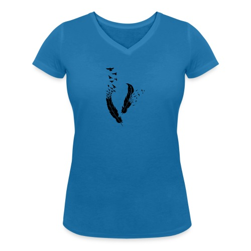 Plumes - T-shirt bio col V Stanley & Stella Femme