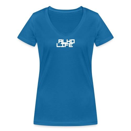 Projektowanie nadruk koszulki 1547218658149 - Ekologiczna koszulka damska z dekoltem w serek Stanley & Stella