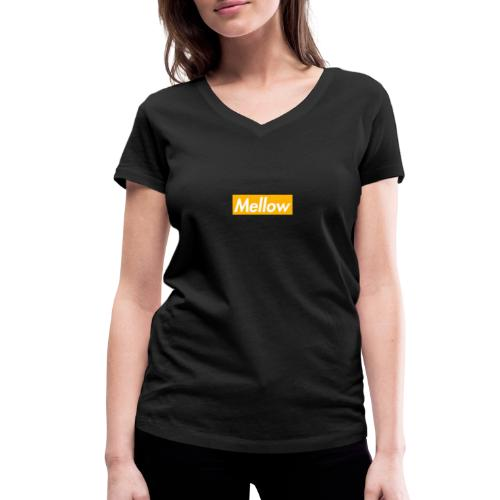 Mellow Orange - Women's Organic V-Neck T-Shirt by Stanley & Stella