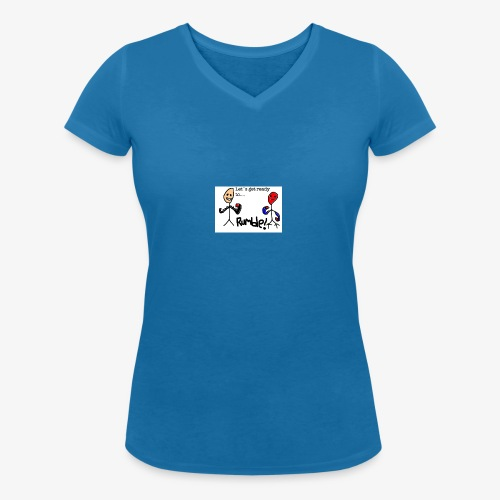 Let`s get ready to rumble! logo - Økologisk T-skjorte med V-hals for kvinner fra Stanley & Stella