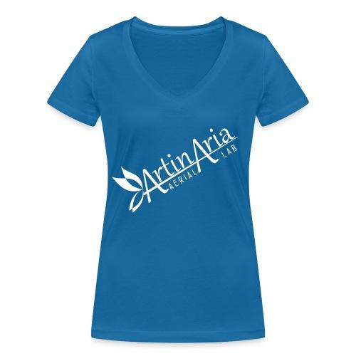Artinaria Aerial Lab - T-shirt ecologica da donna con scollo a V di Stanley & Stella