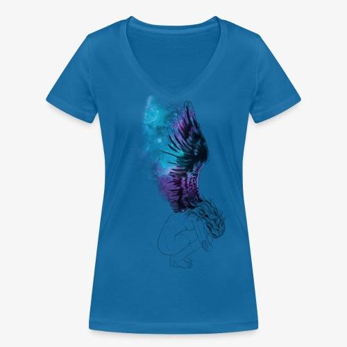 Anguish - Økologisk Stanley & Stella T-shirt med V-udskæring til damer