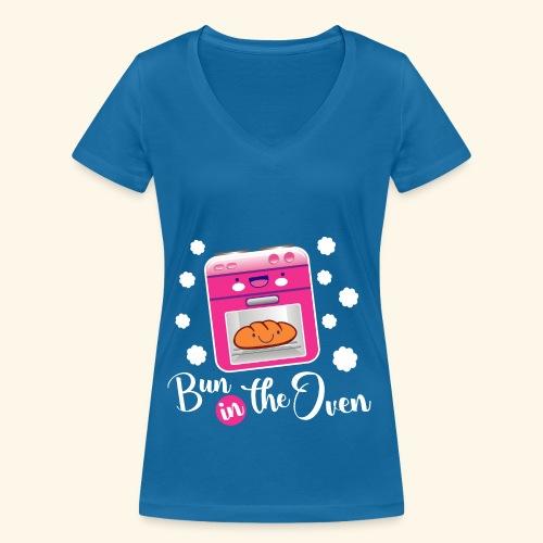 Bun in the oven - Camiseta ecológica mujer con cuello de pico de Stanley & Stella