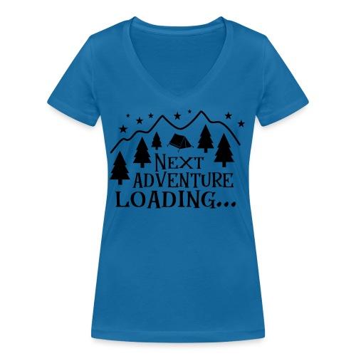 Outdoor Camping Wandern Natur Berg Geschenk Spruch - Frauen Bio-T-Shirt mit V-Ausschnitt von Stanley & Stella