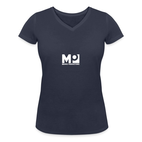 ManigProductions White Transparent png - Women's Organic V-Neck T-Shirt by Stanley & Stella