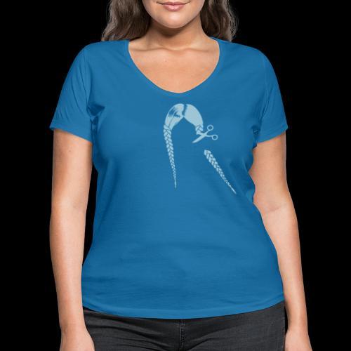 Greta FFF Fridays for future & Fridays for Hubraum - Frauen Bio-T-Shirt mit V-Ausschnitt von Stanley & Stella