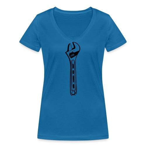 Rollgabelschlüssel - Frauen Bio-T-Shirt mit V-Ausschnitt von Stanley & Stella