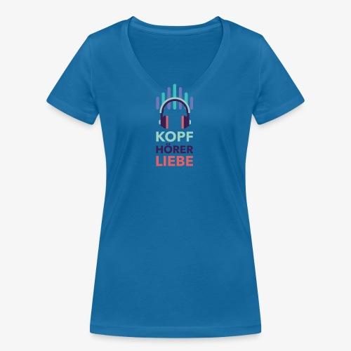 kopfhoererliebe bunt - Frauen Bio-T-Shirt mit V-Ausschnitt von Stanley & Stella