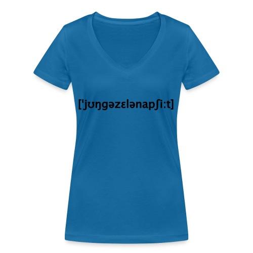 Junggesellenabschied Lautschrift - Frauen Bio-T-Shirt mit V-Ausschnitt von Stanley & Stella