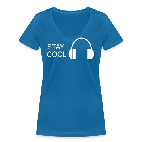 STAY COOL - Women's Organic V-Neck T-Shirt by Stanley & Stella