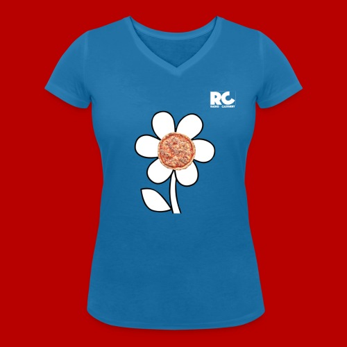 Pizzaflower Edition - Frauen Bio-T-Shirt mit V-Ausschnitt von Stanley & Stella
