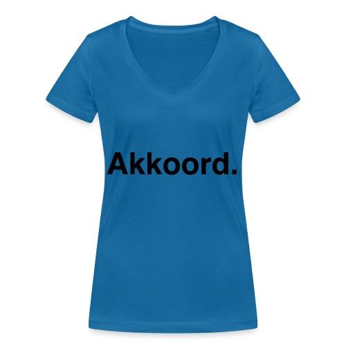 Akkoord - Vrouwen bio T-shirt met V-hals van Stanley & Stella