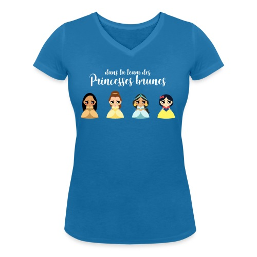 Team princesses brunes - T-shirt bio col V Stanley & Stella Femme