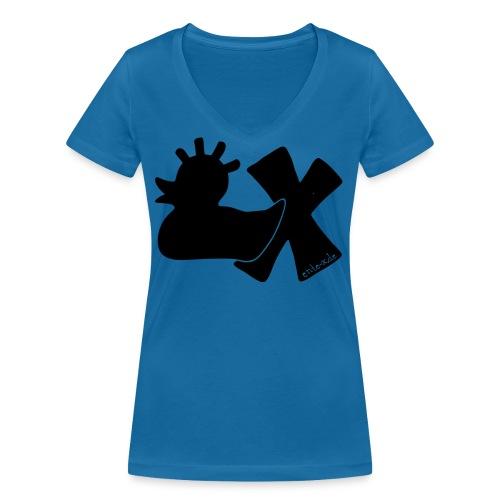 PunkEnte mit X v3.3 - Frauen Bio-T-Shirt mit V-Ausschnitt von Stanley & Stella