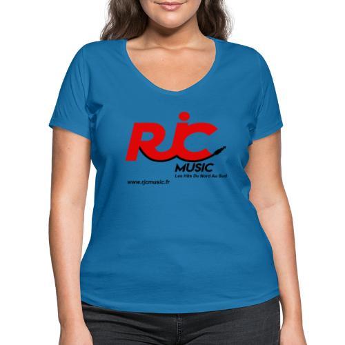 RJC Music avec site - T-shirt bio col V Stanley & Stella Femme