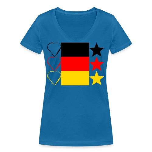 Liebe Deine Stars - Frauen Bio-T-Shirt mit V-Ausschnitt von Stanley & Stella