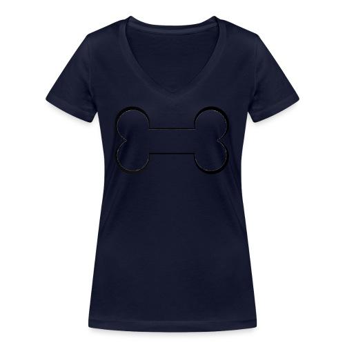 LeChien - T-shirt ecologica da donna con scollo a V di Stanley & Stella