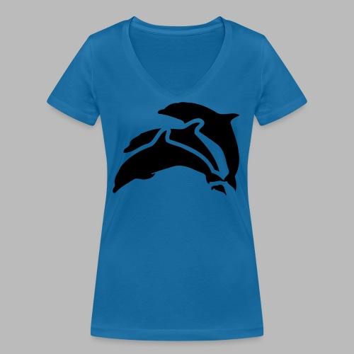 drei delfine - Frauen Bio-T-Shirt mit V-Ausschnitt von Stanley & Stella