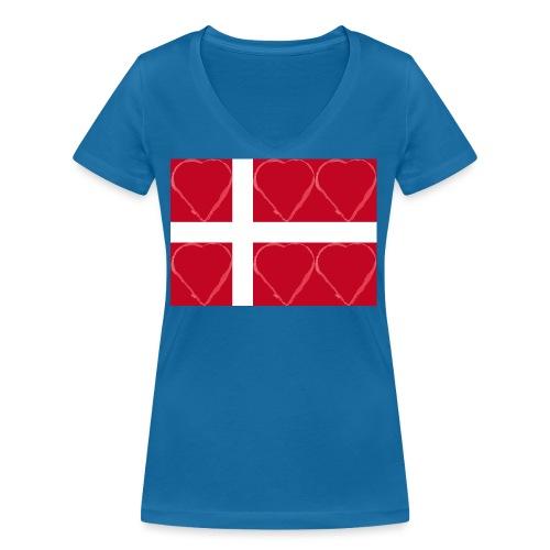 Dänemark 21.2 - Frauen Bio-T-Shirt mit V-Ausschnitt von Stanley & Stella