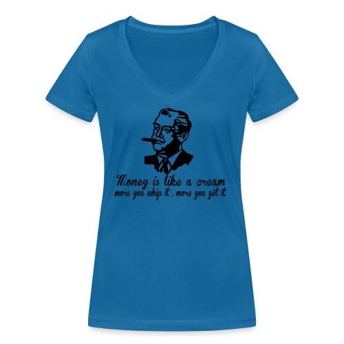 Viceguy - Stanley & Stellan naisten v-aukkoinen luomu-T-paita
